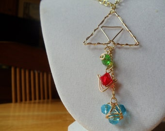 L.O.Z.® Triforce with Hanging Spiritual Stones