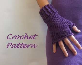 Fingerless Gloves Crochet Pattern. PDF 054.