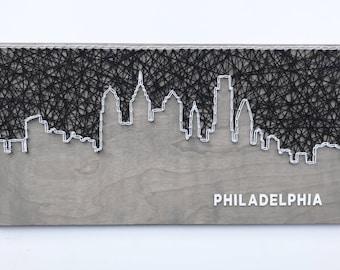 Philadelphia Skyline String Art, Philadelphia Skyline, Philadelphia Art, Pennsylvania Art