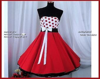 Rockabillydress,Petticoat,Petticoatdress,Rockabilly,fullcirkleskirt,50s dress,rockabilly wedding,
