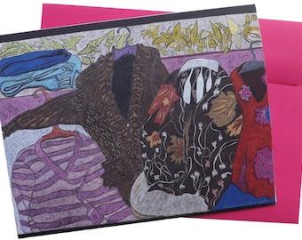 Art note card   'Closet #4'