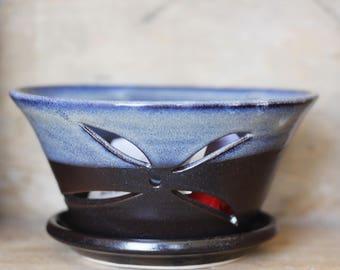 Küchensieb Sieb Berry Bowl in Mitternacht Surfen von Dorf Keramik pei