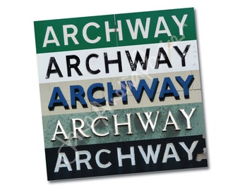 "Greeting card – singles or 6-packs – ""Archway Stripes"" – FREE UK postage"
