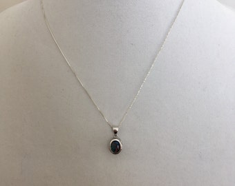 Opal Triplert Necklace, Gemstone Necklace, Sterling Silver Opal Triplet Necklace