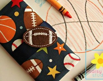 Crayon Caddy, Crayon Roll, Crayon Wallet, Crayon Holder, Crayon Roll Up, Crayon Keeper, Crayon Organizer, Crayon Tote, Football, Sports