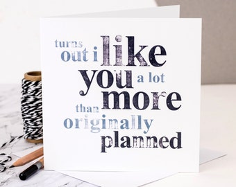 Funny Love Card; Funny Valentines Card; Funny Anniversary Card; I Love You Card; Card For Boyfriend; Funny Card; GC020
