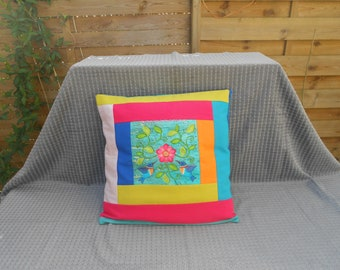 Pillow cover / cushion 40 x 40 cm colorful and full of PEP