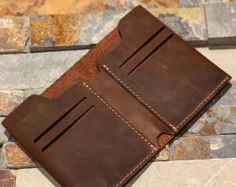 Wallet, Leather Wallet, Slim Leather Wallet, Distressed Leather Wallet, Minimalist Leather Wallet,Father's Day