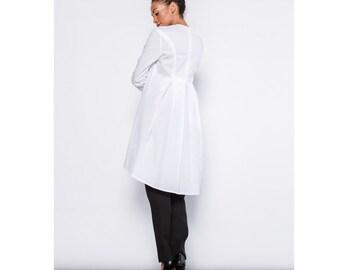 Pleated Back Shirt Dress