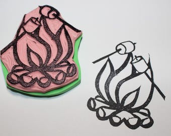 Campfire and Marshmallows Stamp
