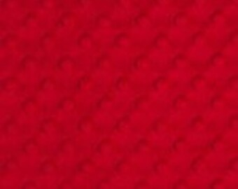 Red Cuddle Dimple Dot Minky by Shannon Fabrics - 1 yard