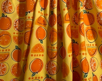 Handmade Orange Valance ,41 x 15 inches