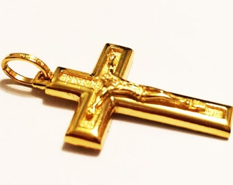"10k solid yellow gold(2.50""inch)high-end crucifix cross"