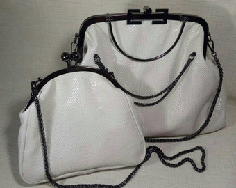 Leather bags for fermuar and little bags