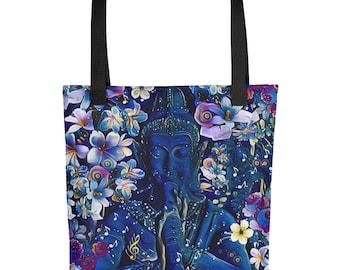 Buddha Flute Tote bag