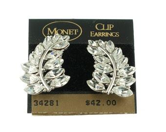 Monet Leaf Climber Earrings