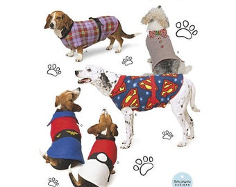Simplicity Sewing Pattern 8538 Dog Coats in Three Sizes. Pattern is New and Uncut.