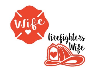 Firefighters Wife Decal/sticker