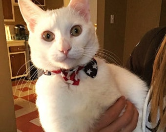 Patriotic Bow Tie for Cats and Tiny Dogs