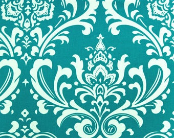 CLEARANCE 50% OFF Turquoise Damask Pillow. Decorative Pillow Covers. Pick a Size. Cushion Cover