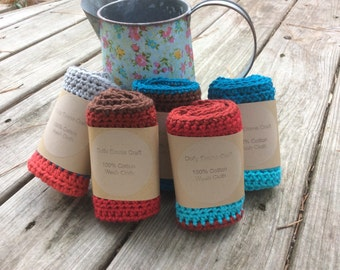 Crochet Wash Cloth, Spa Cloth, Eco Dishcloth, Crochet Dishcloth, Baby Wash Cloths, cotton Wash Cloths,