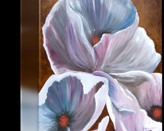 White Hibiscus, Morehead, Kentucky, Print on Fine Art Paper or Canvas