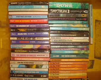 Set of 46 mixed Science Fiction paperback books