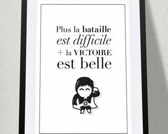 Poster quote + superhero