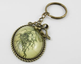 "Keychain / bag large bronze ""reunion"""