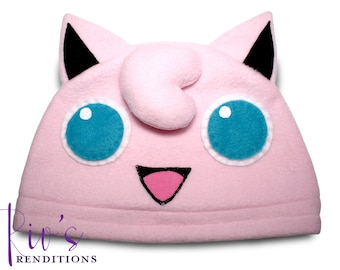 Pokemon Jigglypuff Hat / Fleece Hat / Winter Hat / Pokemon Hat / Pokemon Fleece Hat / Video Game Characters
