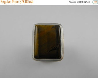 Mothers Day Sale Gorgeous large Tiger's Eye Sterling Silver Statement Ring