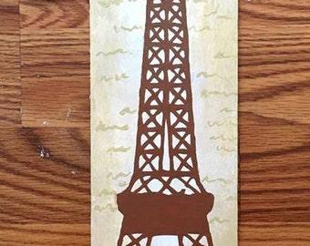 Paris Wooden Number
