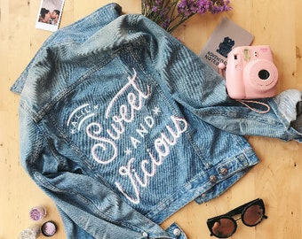 Custom Lettered Denim Jacket