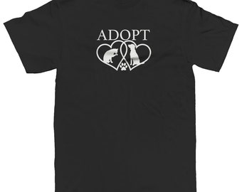 Adopt Heart Animal Rescue Dogs Cats Pets Adoption Men's T-shirt SF_0035