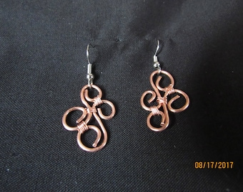 Copper Swirls Earrings
