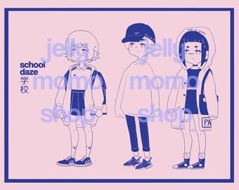 School Daze Print