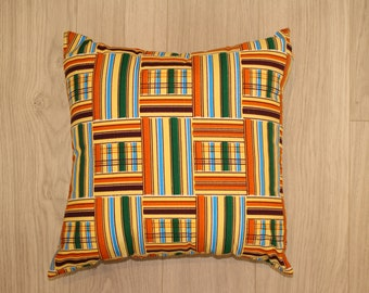 African cushion, African Pillow, Cushion cover, Couch pillow, African home decor, bold prints, Throw pillow