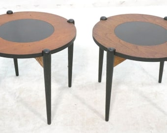 Pair of Mid-Century Side Tables - Convert to Stools