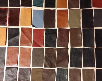 100% Real Genuine Leather Small Offcuts Remnants Various Colours Multicolored 15 Pieces
