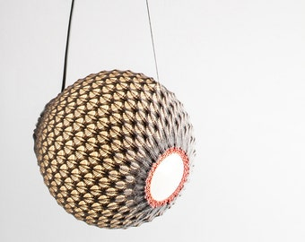 Knitted Pendant Light, Hanging Light, Pendant fixture ,Ceiling Pendant, Interior Decor,Home lighting