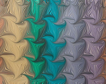 Marbling paper Art PALOMAR papel marbled