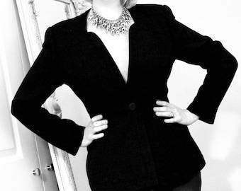Vintage Designer Black Jacket by Mani (UK Size 8/10)