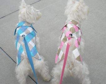 Argyle  Dog raincoats , pink dog raincoats , blue dog raincoats , waterproof dog raincoats, Dog coats, rain coat,Custom fit dog rain coat,