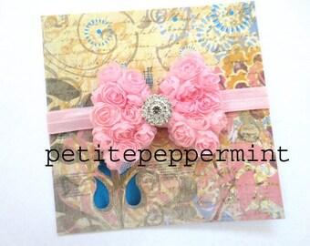 Pink Baby Headband, Baby flower headband, Newborn Headband Toddler Headband, Pink Baby Flower Headband,Pink Baby Girl Headband,Pink Baby Bow