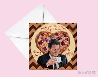 Twin Peaks Dale Cooper love coffee card