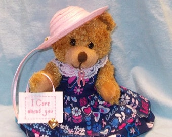 Breast Cancer Patient Gift/Teddy Bear for Breast Cancer Patient/Gift for Cancer Patient/Cancer Encouragement/Cancer Gift/Pink Ribbon