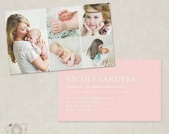 Photography Business Card Template for Photographers -002 - C186, INSTANT DOWNLOAD
