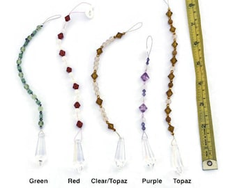 Crystal Sun Catcher 38 mm Pendulum Rainbow Feng Shui - Choose your color - One Crystal