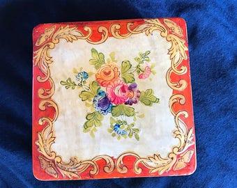 Floral Paper-Mache Japanese box
