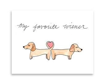 Dachshund Greeting Card / Daschund Gift / Doxie Gift Idea / Blank Card / Funny Dog Card / Misha Marie Art